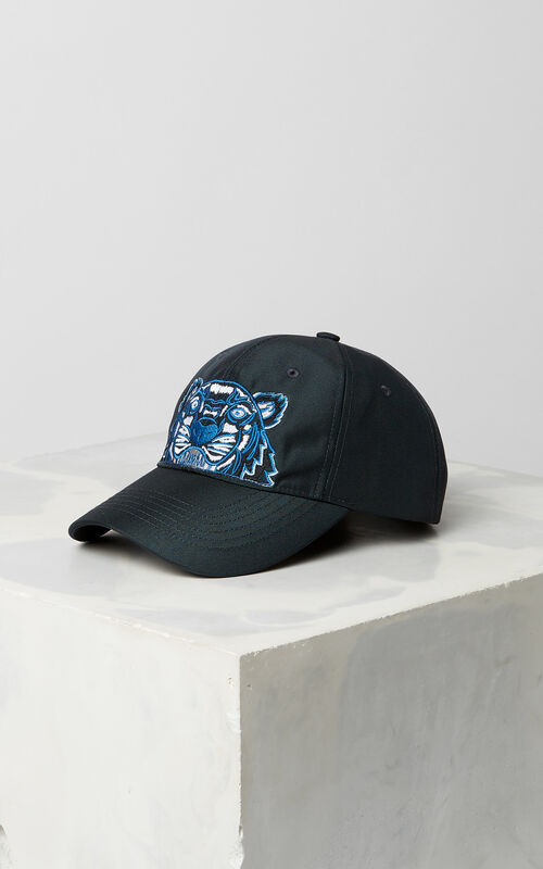 DARK GREY Tiger Canvas Cap for men KENZO