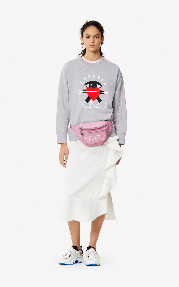 PEARL GREY 'I ❤ KENZO' sweatshirt for women