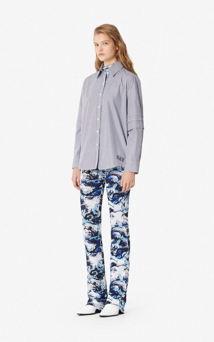 NAVY BLUE 'KENZO World' trousers for women