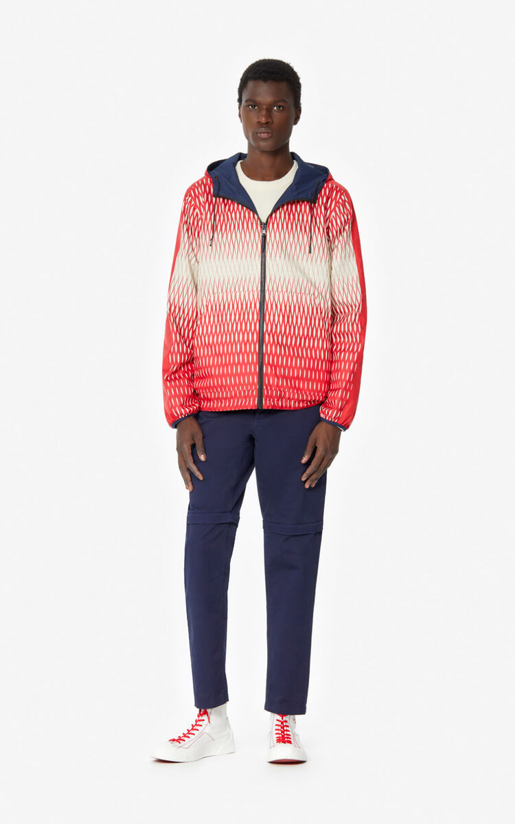 MIDNIGHT BLUE Fishnet' reversible windbreaker for women KENZO