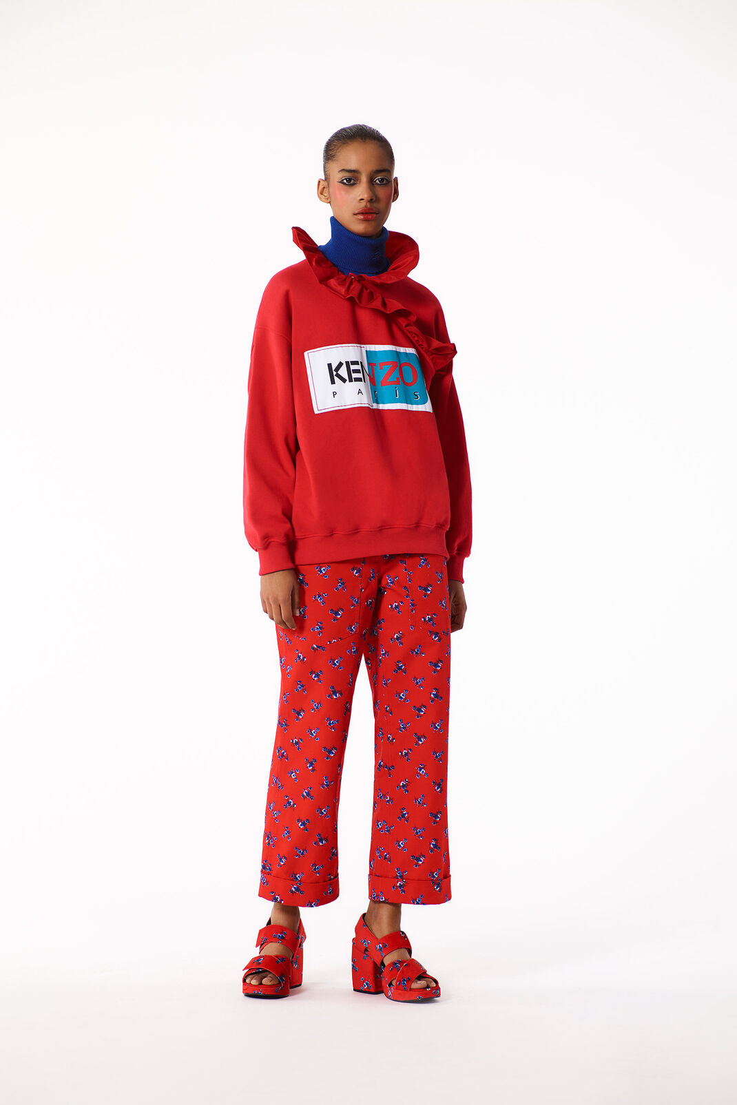 MEDIUM RED KENZO Paris Kimono Sweatshirt for women