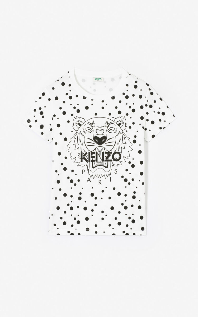 BLACK 'Dots' Tiger T-shirt for women KENZO