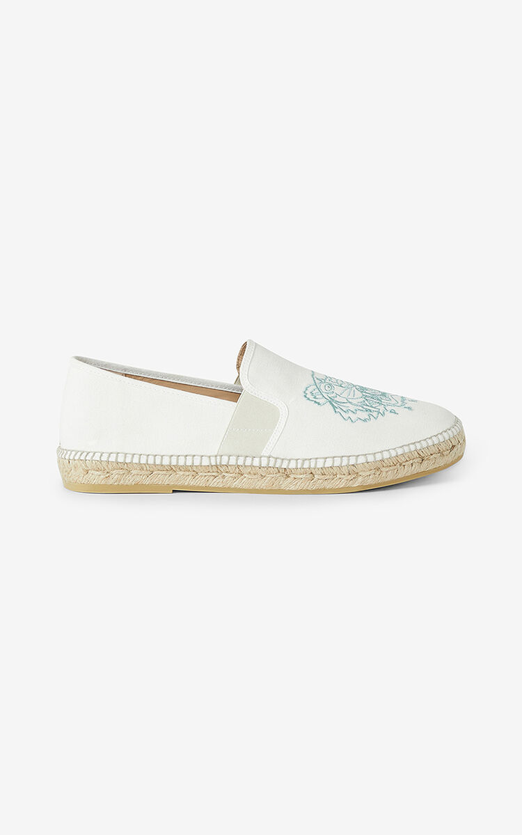 WHITE Tiger elasticated espadrilles for women KENZO