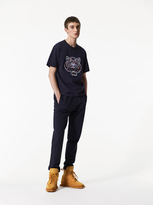 NAVY BLUE Cotton Fleece Track Pants for men KENZO
