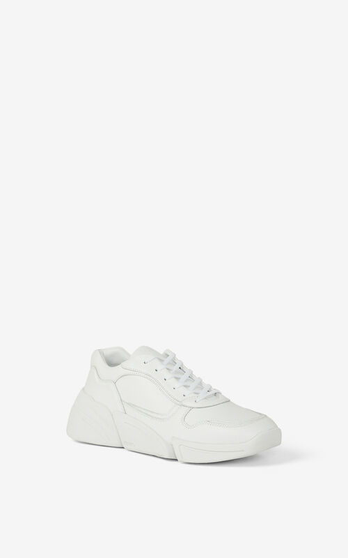 WHITE Kross leather trainers for men KENZO
