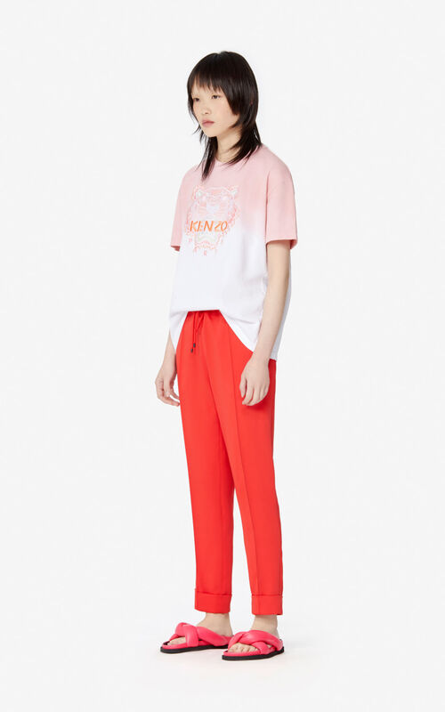 FLAMINGO PINK Gradient Tiger t-shirt for women KENZO