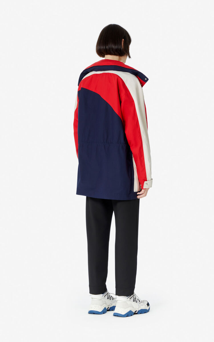 MIDNIGHT BLUE Colorblock parka for men KENZO