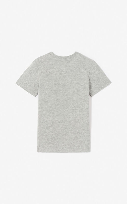MIDDLE GREY 'Wax' Tiger T-shirt for men KENZO