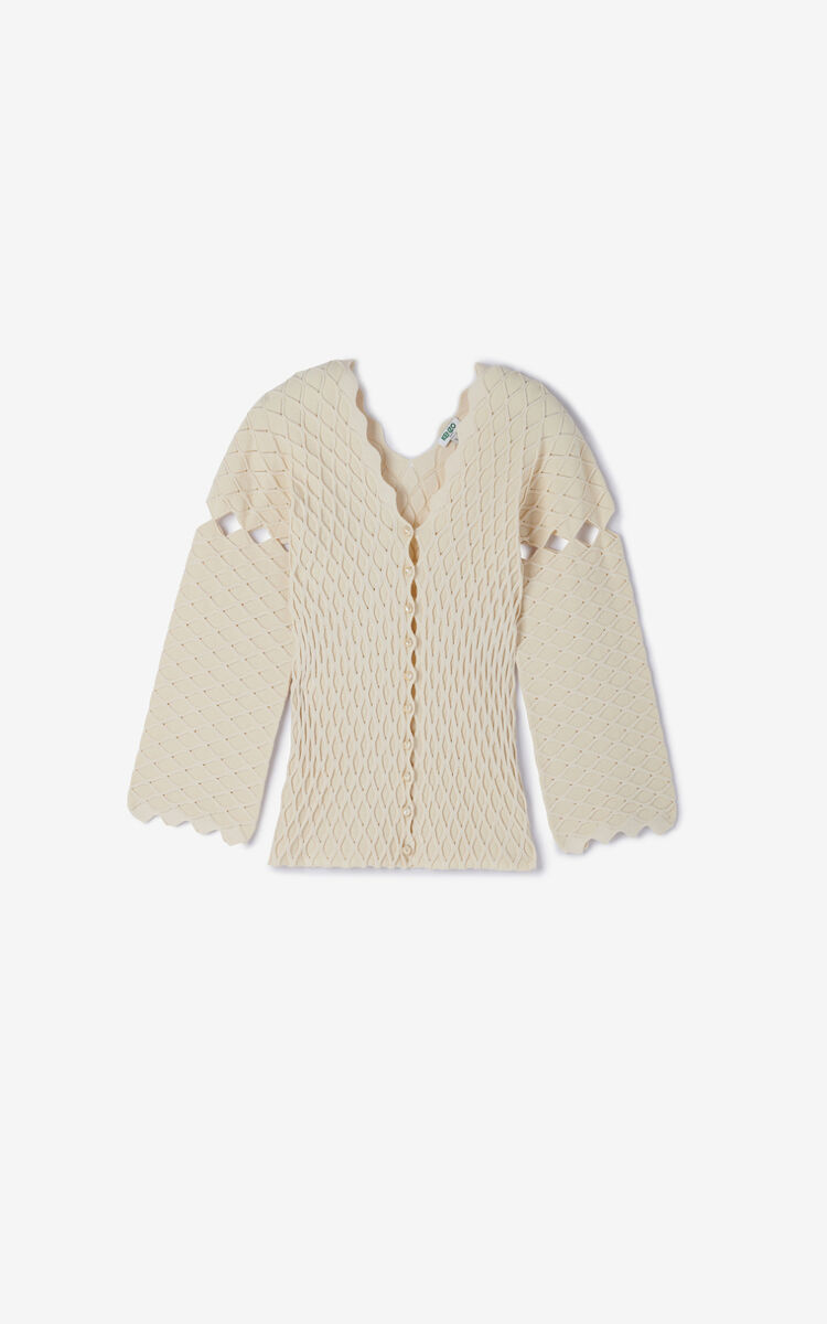 OFF WHITE 'High Summer Capsule Collection' textured cardigan for men KENZO