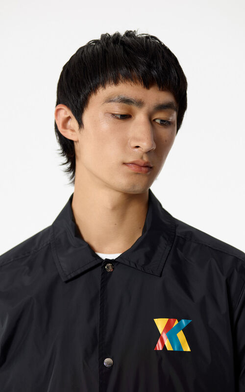 BLACK 'Hyper KENZO' water-resistant jacket for men