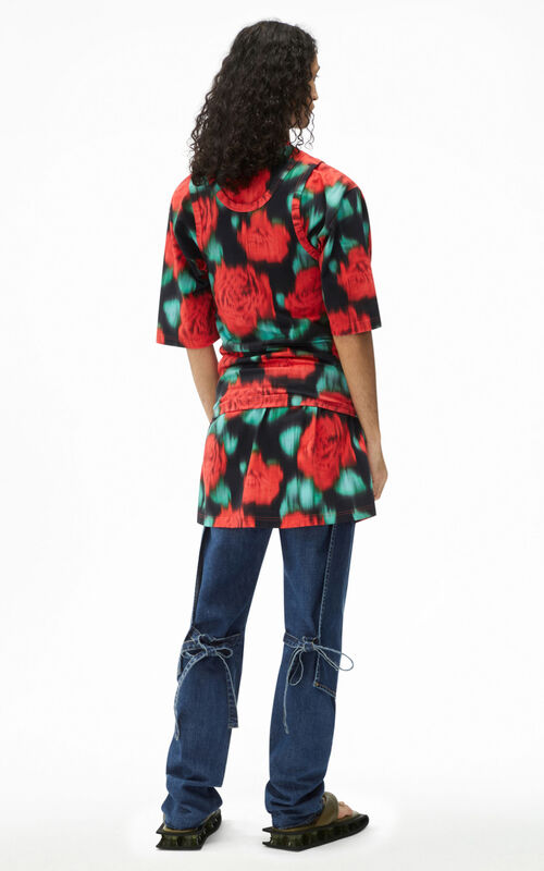 CHERRY 2-In-1 oversize 'Roses' T-shirt for men KENZO