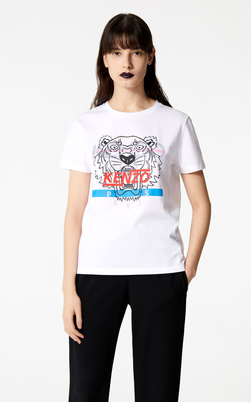 WHITE 'Hyper Tiger' t-shirt for women KENZO