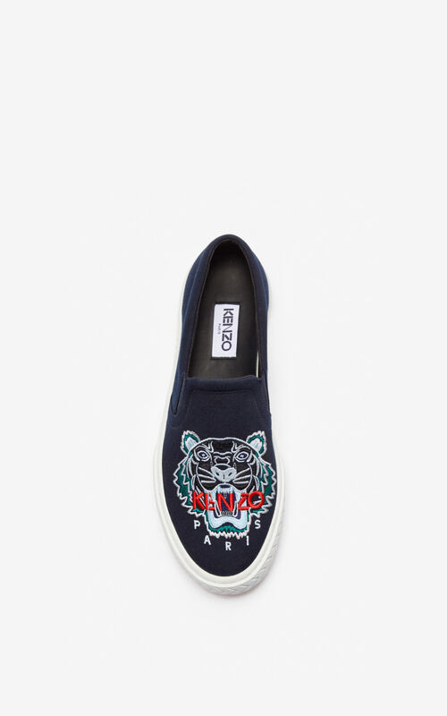 NAVY BLUE Slip-on K-Skate Tiger for men KENZO