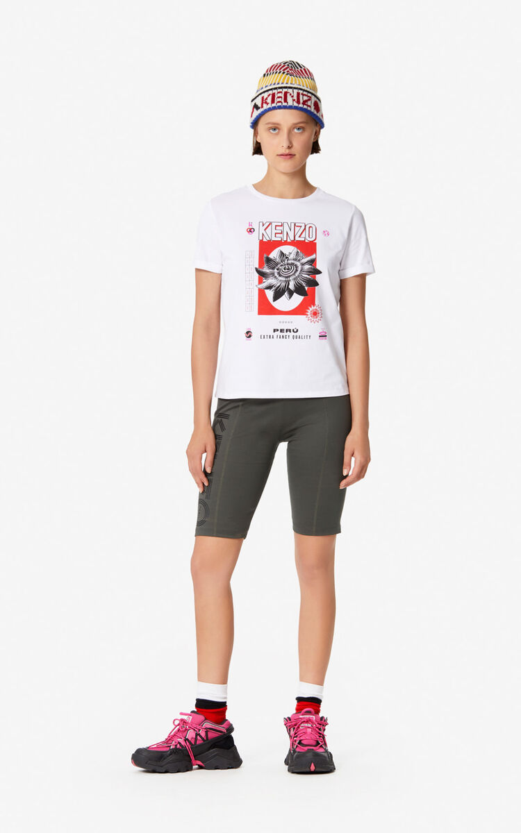WHITE 'Rice Bags' T-shirt for women KENZO