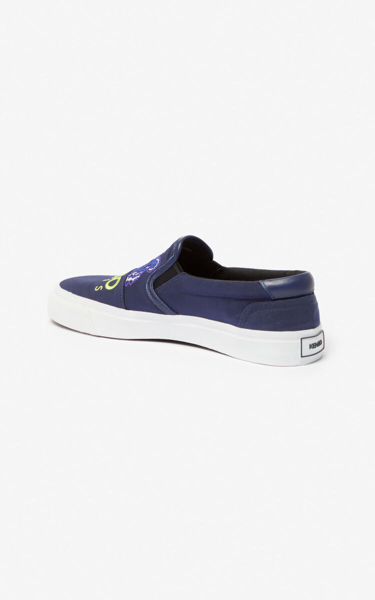 MIDNIGHT BLUE K-Skate Tiger slip-ons for unisex KENZO