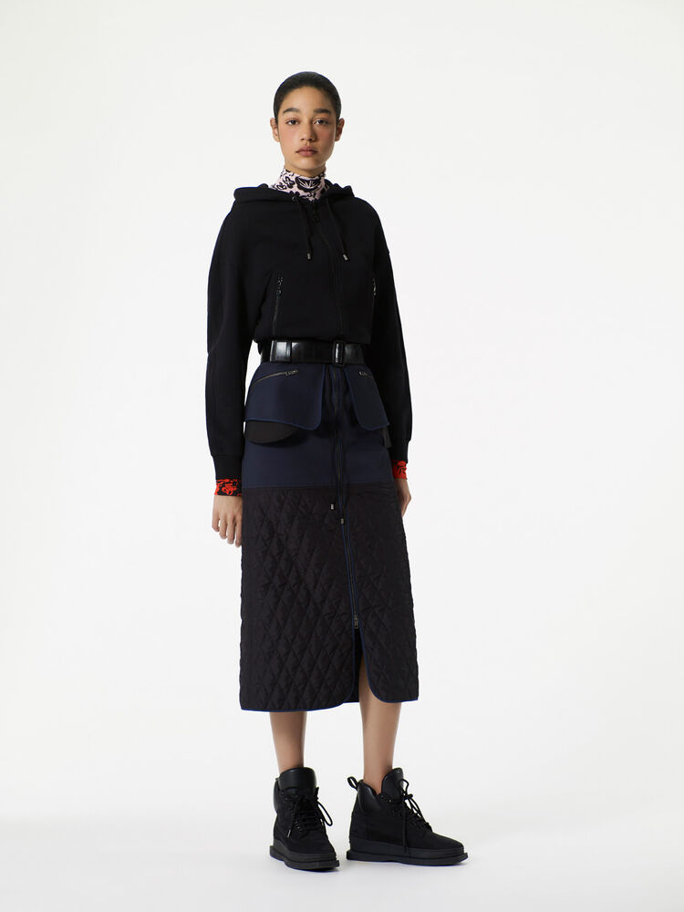 NAVY BLUE Quilted midi skirt  for women KENZO
