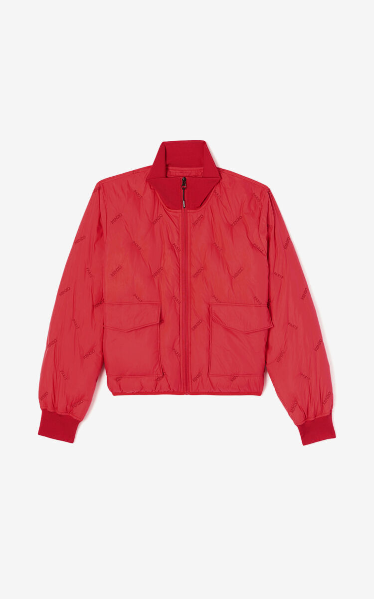 MEDIUM RED KENZO Paris quilted down jacket for women