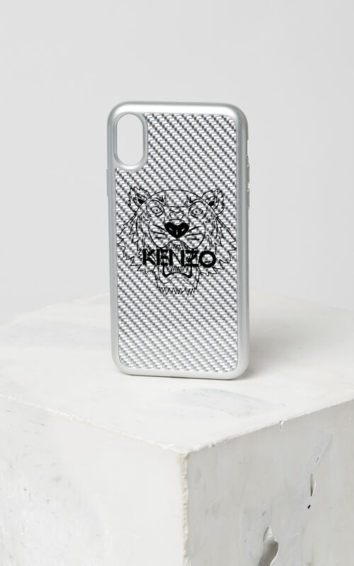 SILVER Tiger iPhone X case for women KENZO