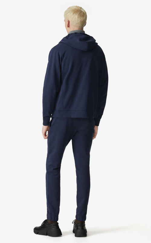 NAVY BLUE Tiger Crest zipped hoodie for women KENZO