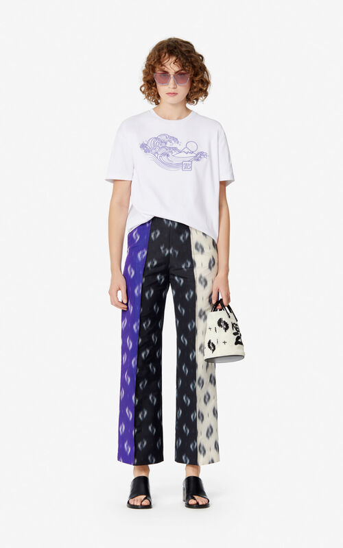 WHITE 'KENZO Wave & Mermaids' t-shirt for women