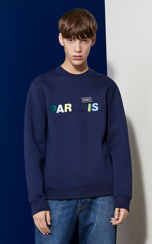 Paradise Neoprene Sweatshirt, MIDNIGHT BLUE, KENZO
