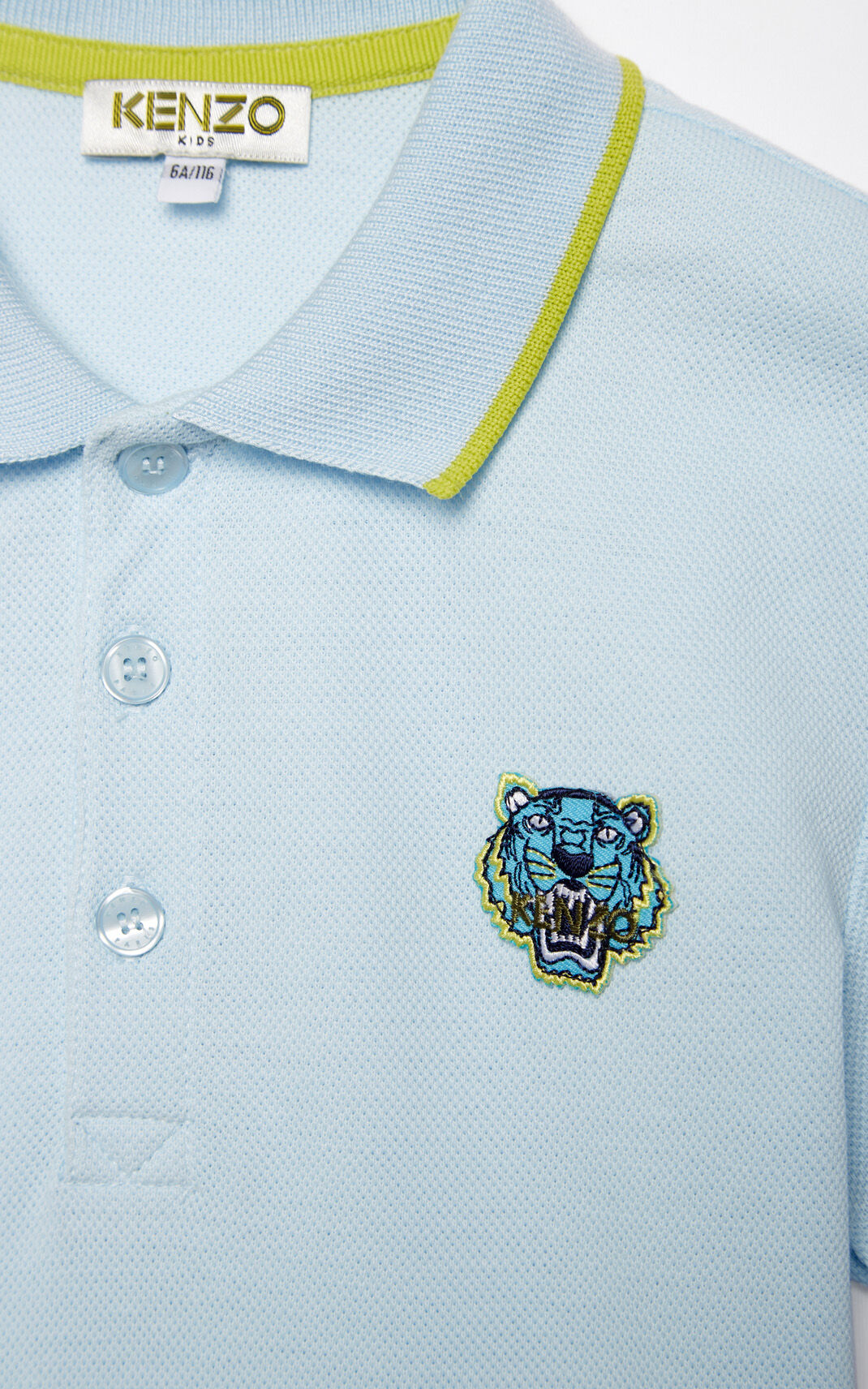 LIGHT BLUE Tiger polo shirt for men KENZO