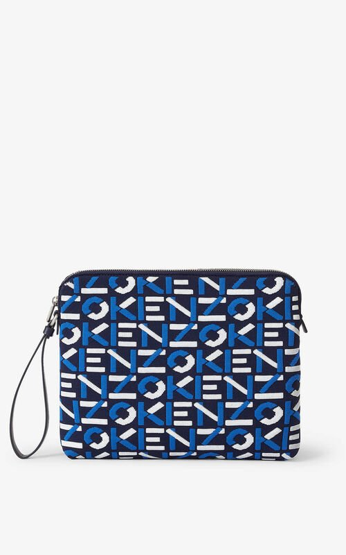 MIDNIGHT BLUE Skuba clutch made of recycled material for unisex KENZO