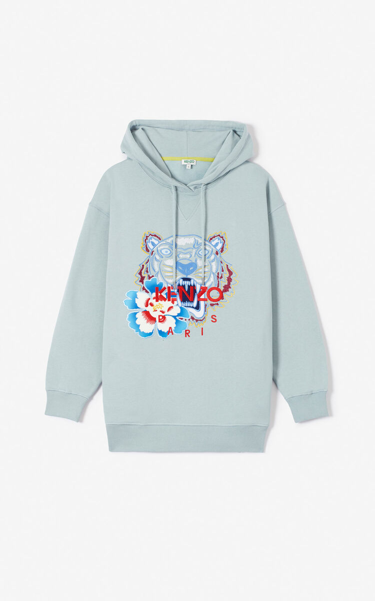 GLACIER 'Indonesian Flower' Tiger hoodie for women KENZO