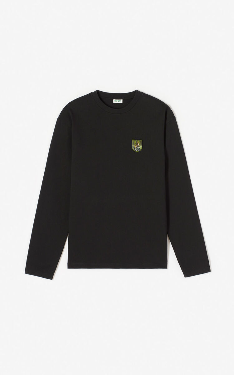 BLACK 'Tiger Mountain' 'Capsule Expedition' T-shirt for men KENZO