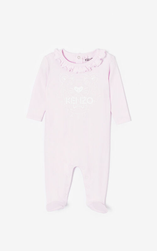 WHITE Set of two 'Tiger Friends' sleepsuits for men KENZO