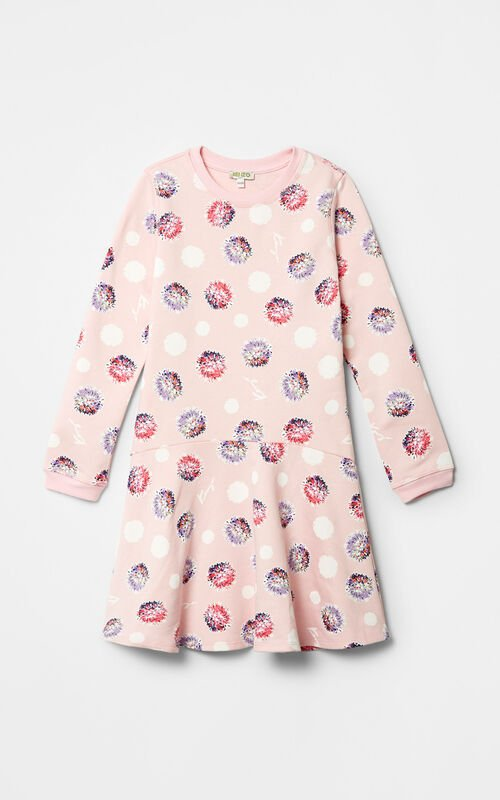 Dandelion Skater Dress, FADED PINK, KENZO