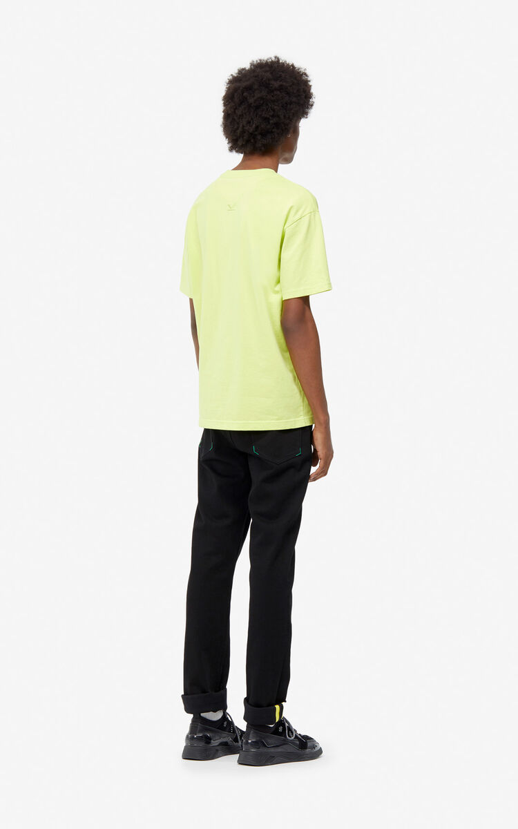 BLACK Slim jeans with turn-up hem for men KENZO