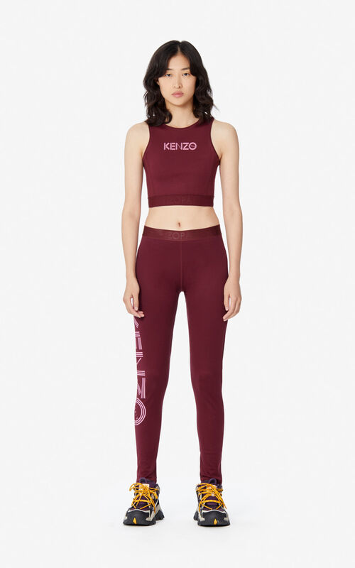 BORDEAUX KENZO logo brassiere for women