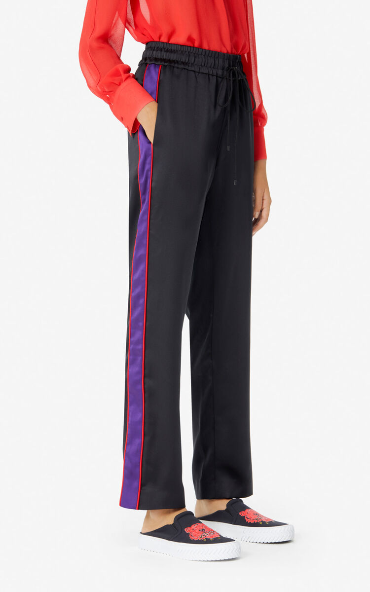 BLACK 'Chinese New Year Capsule' fluid trousers for women KENZO