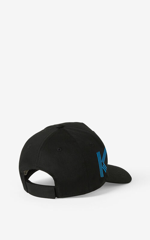 BLACK KENZO Sport cap for women