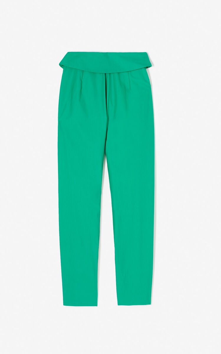 GREEN High-waisted trousers for women KENZO