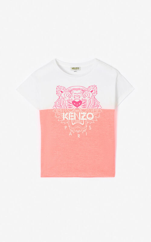 DEEP PINK Two-toned Tiger t-shirt for women KENZO