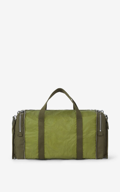 DARK KHAKI K-Konvert foldable gym bag for unisex KENZO