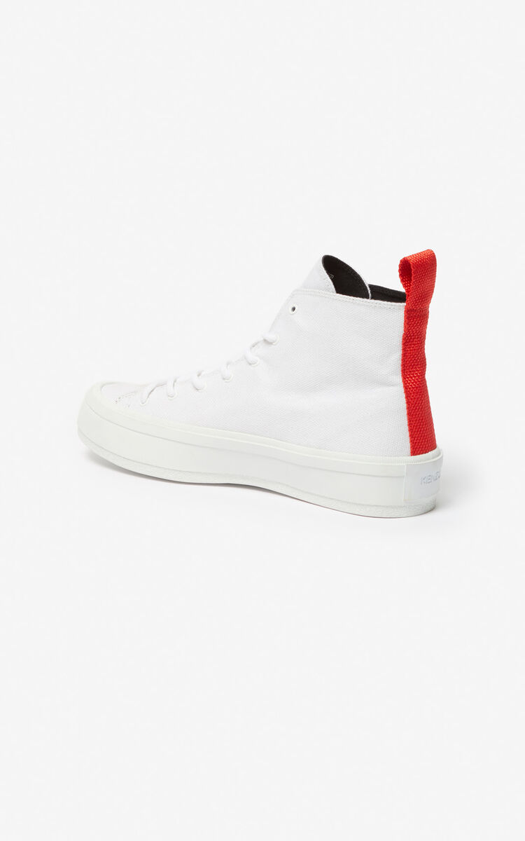 WHITE 'Square Logo' K-Street sneakers for women KENZO