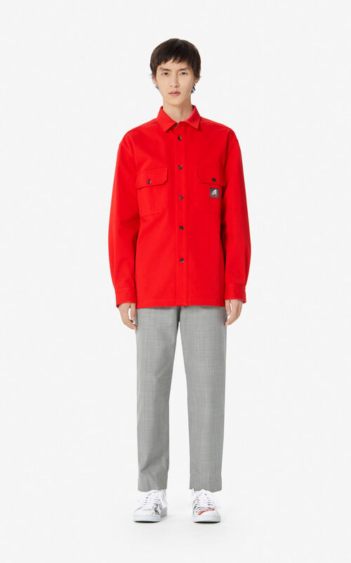 MEDIUM RED 'Kung Fu Rat' overshirt for men KENZO