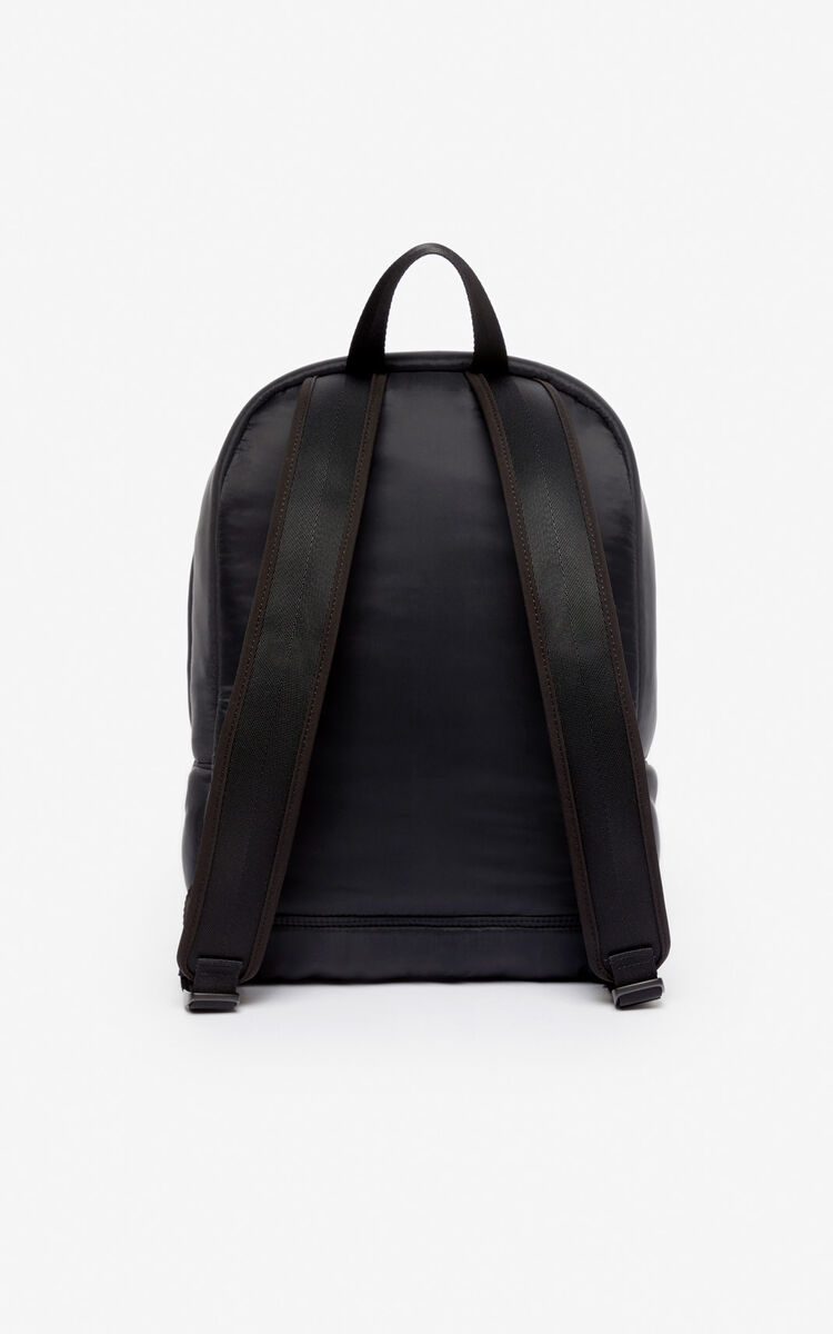 BLACK Large Tiger 'Kampus' backpack for unisex KENZO