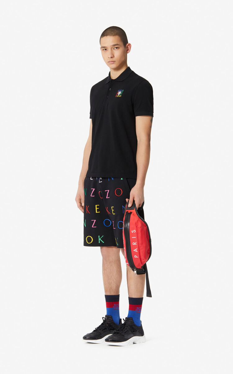 BLACK Fitted 'Tiger Square' polo shirt for women KENZO