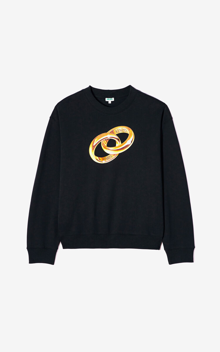 BLACK 'Wedding' sweatshirt for women KENZO