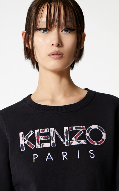 BLACK KENZO Paris sweatshirt for women