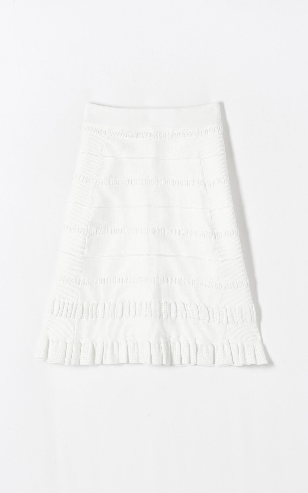 WHITE Miniflare skirt for women KENZO