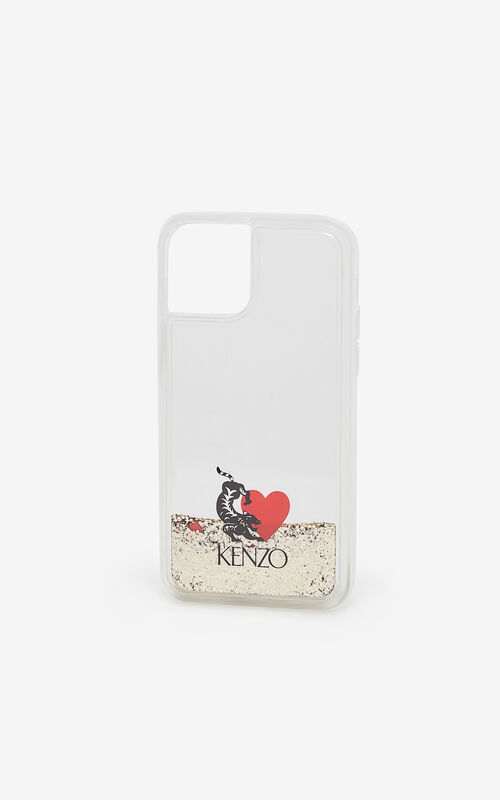 TRANSPARENT 'Valentine's Day capsule' iPhone XI Pro case for unisex KENZO