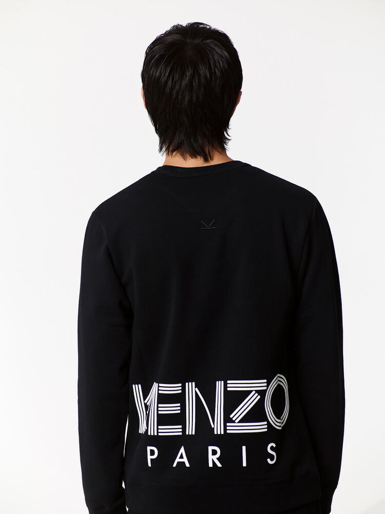 BLACK KENZO Logo Sweatshirt for men