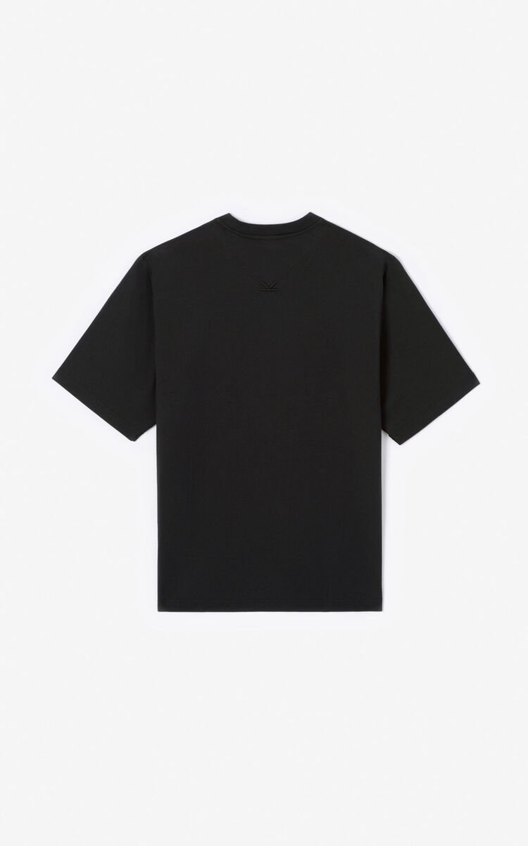 BLACK 'Sea Lily' T-shirt for men KENZO