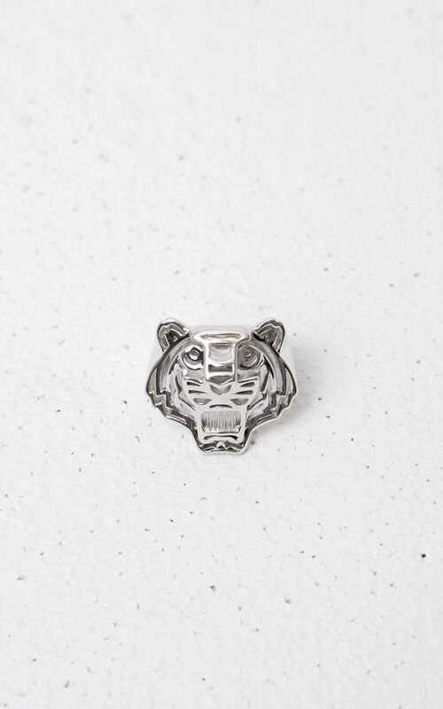 SILVER 3D Tiger Ring for women KENZO