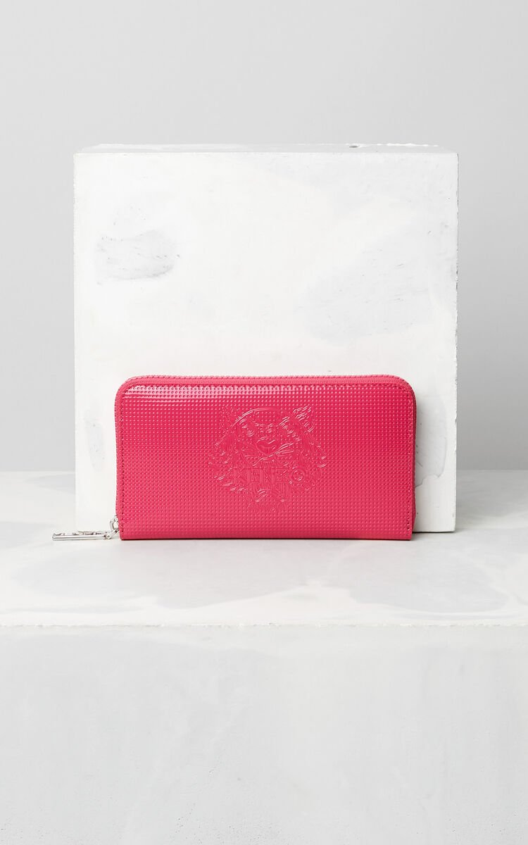 DEEP FUSCHIA Tiger continental wallet for unisex KENZO